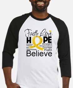 Faith Hope Childhood Cancer Baseball Jersey