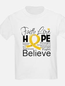 Faith Hope Childhood Cancer T-Shirt