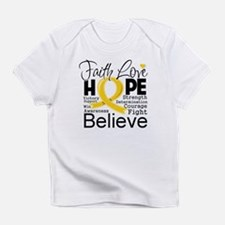 Faith Hope Childhood Cancer Infant T-Shirt