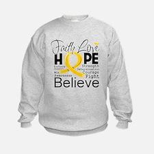 Faith Hope Childhood Cancer Sweatshirt