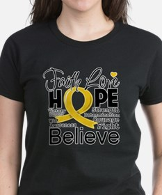 Faith Hope Childhood Cancer Tee