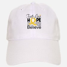 Faith Hope Childhood Cancer Baseball Baseball Cap