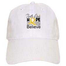 Faith Hope Childhood Cancer Baseball Cap