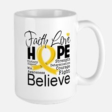 Faith Hope Childhood Cancer Mug