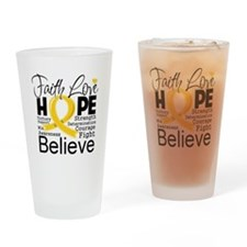 Faith Hope Childhood Cancer Drinking Glass