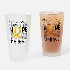 Faith Hope Childhood Cancer Drinking Glass