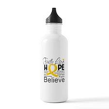 Faith Hope Childhood Cancer Water Bottle