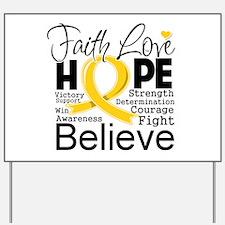 Faith Hope Childhood Cancer Yard Sign