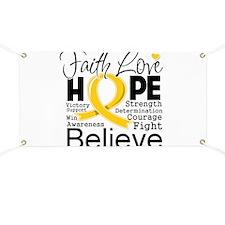 Faith Hope Childhood Cancer Banner