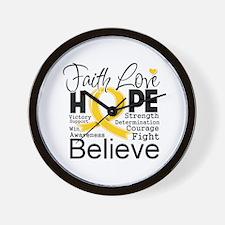 Faith Hope Childhood Cancer Wall Clock