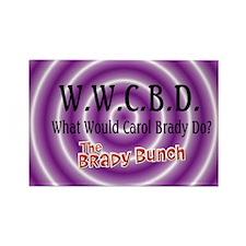 What Would Carol Brady Do? Rectangle Magnet (10 pa