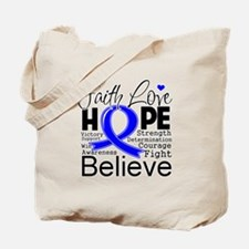 Faith Hope Colon Cancer Tote Bag