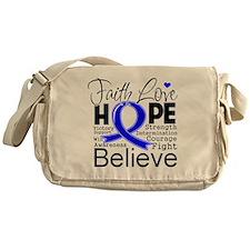 Faith Hope Colon Cancer Messenger Bag