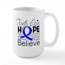 Faith Hope Colon Cancer Mug