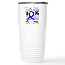 Faith Hope Colon Cancer Travel Coffee Mug