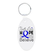 Faith Hope Colon Cancer Keychains
