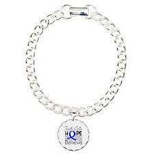 Faith Hope Colon Cancer Charm Bracelet, One Charm