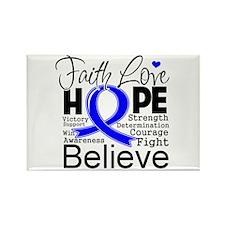 Faith Hope Colon Cancer Rectangle Magnet