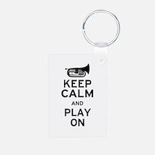 Keep Calm Baritone Keychains