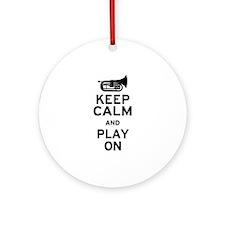 Keep Calm Baritone Ornament (Round)