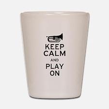 Keep Calm Baritone Shot Glass