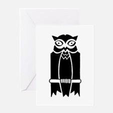 Owl Silhouette Greeting Card