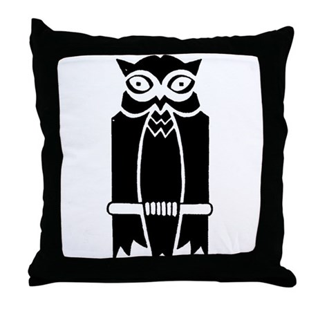 Owl Silhouette Throw Pillow