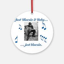Blues Guitarist 1 Ornament (Round)