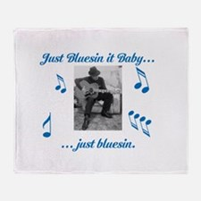 Blues Guitarist 1 Throw Blanket