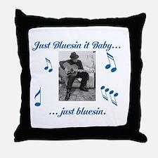 Blues Guitarist 1 Throw Pillow