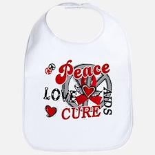 Peace Love Cure AIDS 2 Bib