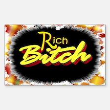 rich bitch Decal