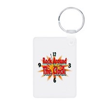 rock around theclock Keychains