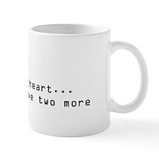2 Hearts Left Mug