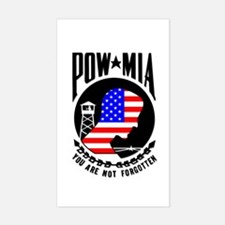 POW MIA Flag Rectangle Decal