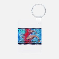 stop the slaughter of dolphin Keychains