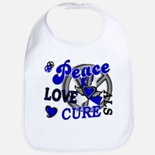 Peace Love Cure ALS 2 Bib