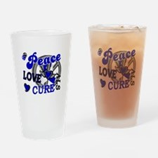 Peace Love Cure ALS 2 Drinking Glass