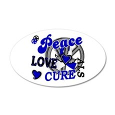 Peace Love Cure ALS 2 22x14 Oval Wall Peel