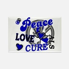 Peace Love Cure ALS 2 Rectangle Magnet
