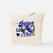 Peace Love Cure ALS 2 Tote Bag