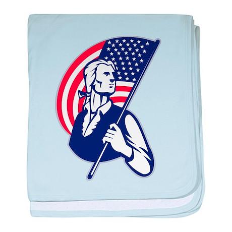 American Patriot baby blanket
