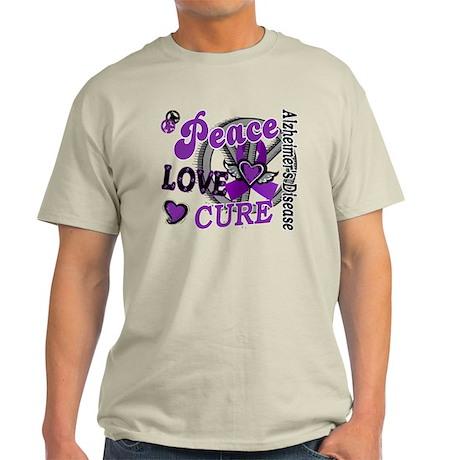 Peace Love Cure 2 Alzheimers Light T-Shirt