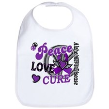 Peace Love Cure 2 Alzheimers Bib
