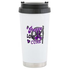 Peace Love Cure 2 Alzheimers Travel Mug