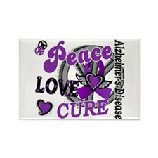 Peace Love Cure 2 Alzheimers Rectangle Magnet