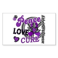 Peace Love Cure 2 Alzheimers Decal