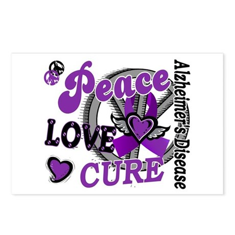 Peace Love Cure 2 Alzheimers Postcards (Package of