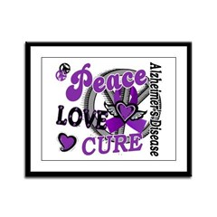 Peace Love Cure 2 Alzheimers Framed Panel Print