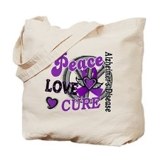 Peace Love Cure 2 Alzheimers Tote Bag